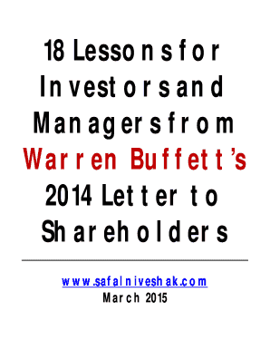 a few lessons for investors and managers pdf