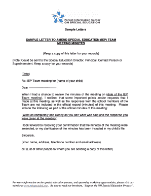Sample letter requesting iep meeting edit online fill print sample letter to amend special education iep team spiritdancerdesigns Gallery