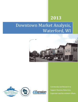 Downtown Market Analysis Waterford WI - University of Wisconsin - waterford-wi