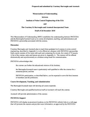 memorandum of understanding sample pdf
