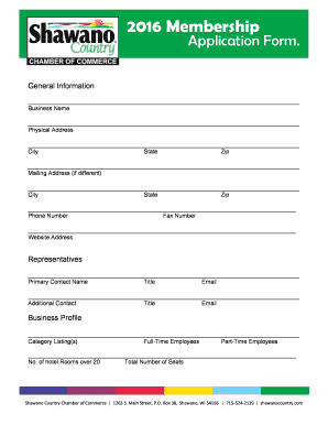 2016 Membership Application Form - shawanocountrycom