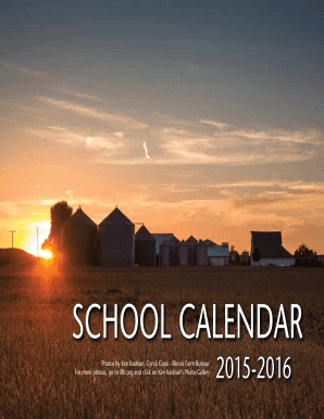2015-2016 School Calendar from Illinois Ag in the