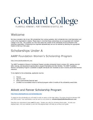 list of scholarship websites - Edit, Fill, Print & Download