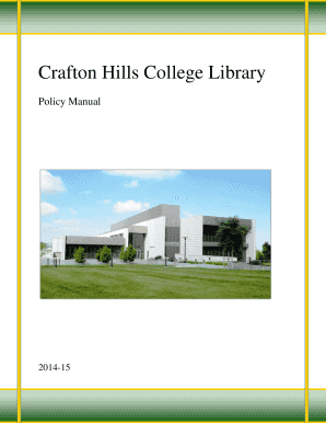 fillable online craftonhills library policy manual crafton hills rh pdffiller com 6th-Grade Ecology Study Guide Ecology Test Study Guide