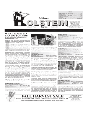 Fall Tab pages - Minnesota Holstein Association