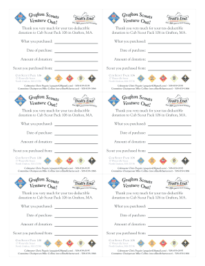 Pack 106 tax deductible popcorn form - 2012