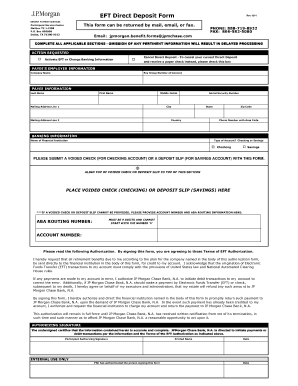 direct deposit form chase - Edit Online, Fill Out & Download ...