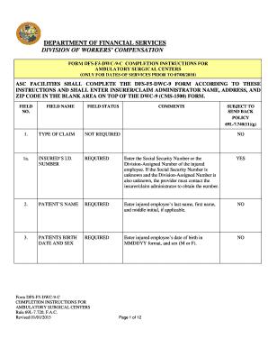 Fillable Online Form DFS-F5-DWC-9-C Instructions Rev 010115