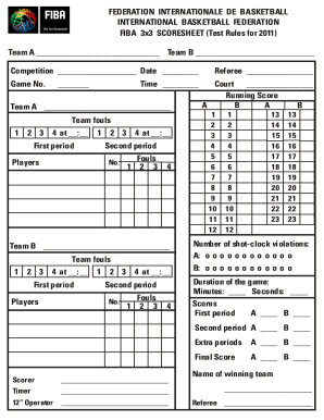 21 printable basketball score sheet forms and templates fillable.