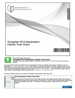 Template Of 8 Generation Family Tree Chart