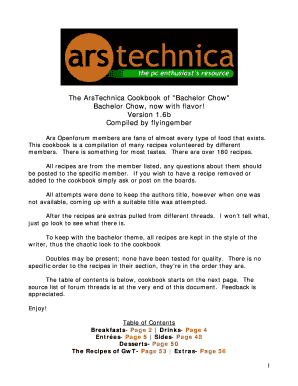 ars technica cookbook bachelor chow pdf form