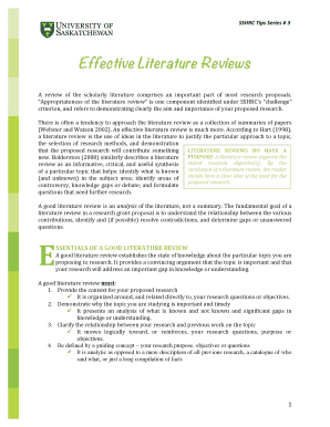 review of literature in research methodology