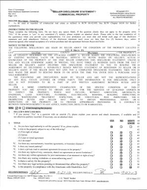 Fillable Online Form 17 Commercial LLER DISCLOSURE STATEMENT t ...