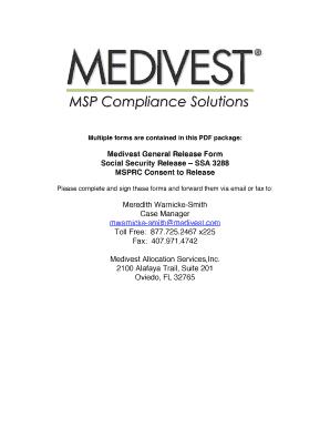 Medivest Release Forms   Medivest   Medicare  General Release Forms