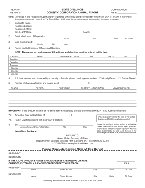 illinois corporate annual report form - Edit Online, Fill Out ...