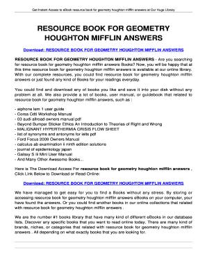 Resource book for geometry houghton mifflin fill online printable resource book for geometry houghton mifflin fandeluxe Image collections