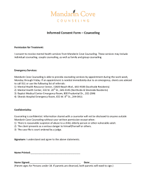 Informed Consent Form - Mandarin Cove Counseling