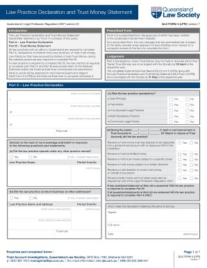 Fillable Online qls com QLS Form 4 LPR Version 7 - Law Practice ...