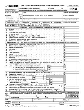 IRS 1120-REIT form | PDFfiller