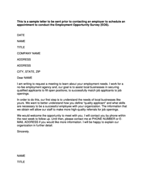 This Is A Sample Letter To Be Sent Prior To Contacting An  Letter Of Agreement