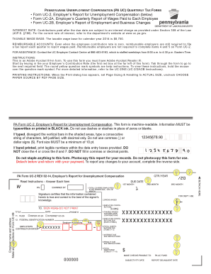 Fillable Online This version of the UC-2 - PA gov Fax Email Print ...