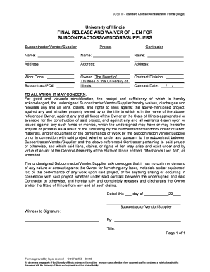 Fillable final waiver of lien form illinois download for Final lien waiver template