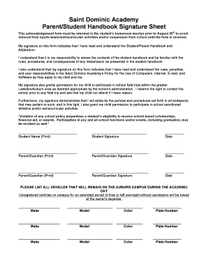 student sign in sheet pdf