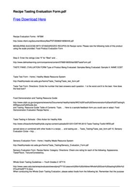 fillable online recipe evaluation forms nfsmi pdfsdocuments2com