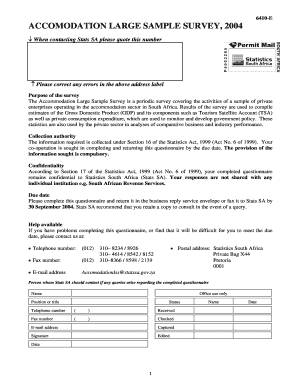 Fillable sample questionnaire for bank employees forms and document 6410 e accomodation large sample survey 2004 altavistaventures Choice Image