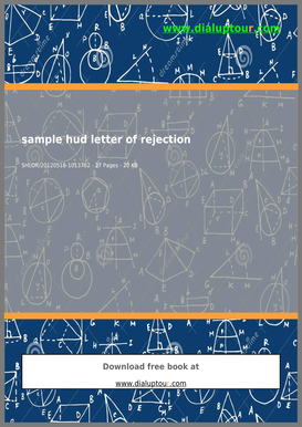 Sample bHudb Letter Of Rejection - Complete Source for Free PDF bb
