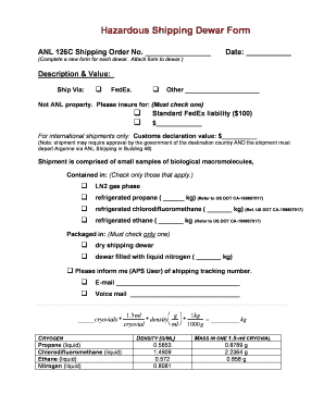 Editable fedex forms for international shipping - Fill Out