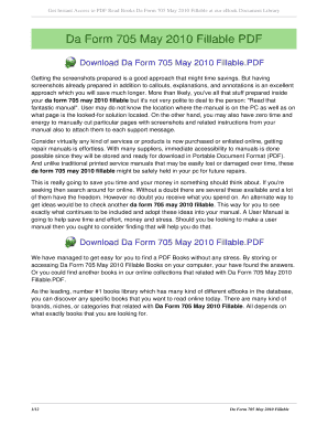 Da Form 705 Templates - Fillable & Printable Samples for PDF, Word ...