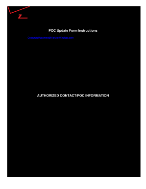 Verizon Poc - Fill Online, Printable, Fillable, Blank | PDFfiller