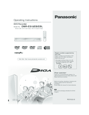 book Page 1 Friday, January 6, 2006 7:08 PM Operating Instructions DVD Recorder Model No - panasonic