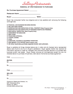 Restaurant purchase agreement fillable printable resume samples restaurant purchase agreement platinumwayz
