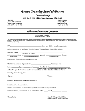 Cemetery Deeds Forms
