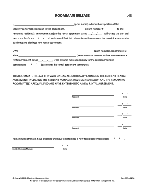 Fillable roommate agreement nyc - Edit, Print & Download Form ...