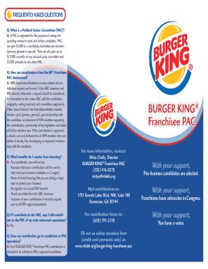 burger king application print out 2016