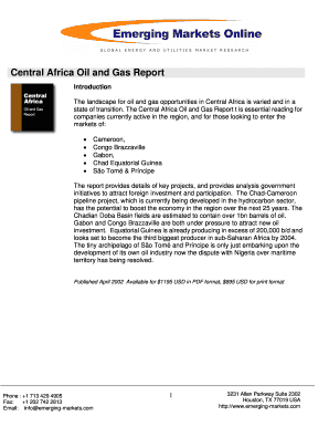 Central Africa Oil and Gas Report - Emerging Markets Online