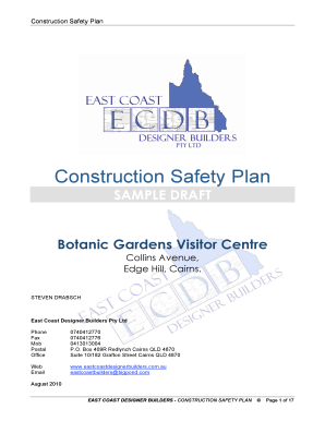 Construction Safety Plan - East Coast Designer Builders