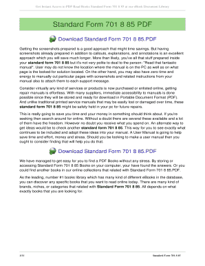 Fillable Online Hjiadc8 Standard Form 701 8 85 Hjiadc8net Fax