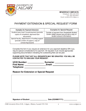 Editable request letter for extension of loan payment - Fill