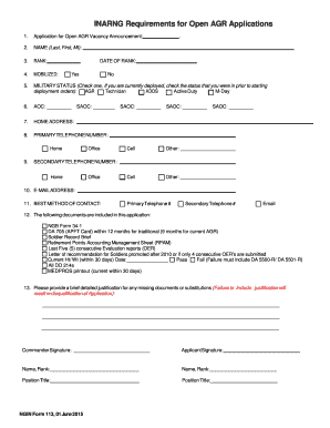 Open Application bFormsb Officerpdf - Indiana National Guard - in ng