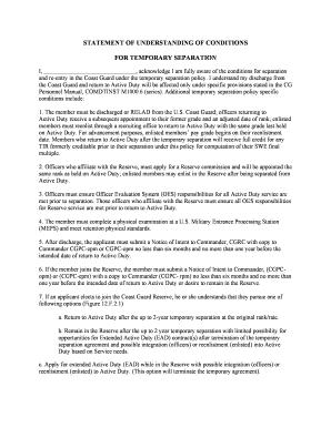Bill of sale form separation agreement worksheet templates temporary separation agreement officerdoc uscg platinumwayz