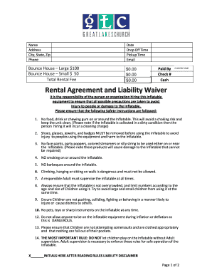 Fillable Bounce House Waiver Form Forms And Document Blanks