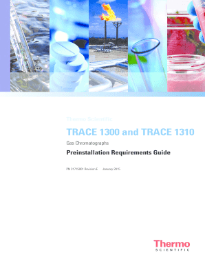 TRACE 1300 and TRACE 1310 Preinstallation Requirements Guide Installation Instructions 31715001