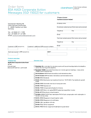 83A KADI Corporate Action Fill Online, Printable, Fillable