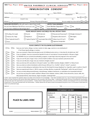 Sample California Immunization Record Forms And Templates Fillable