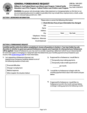 forbearance finance Forms and Templates - Fillable & Printable ...