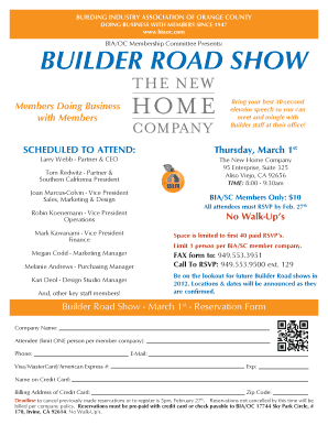 BUILDER ROAD SHOW - BIA OC